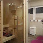 Bad mit Sauna große Wohnung