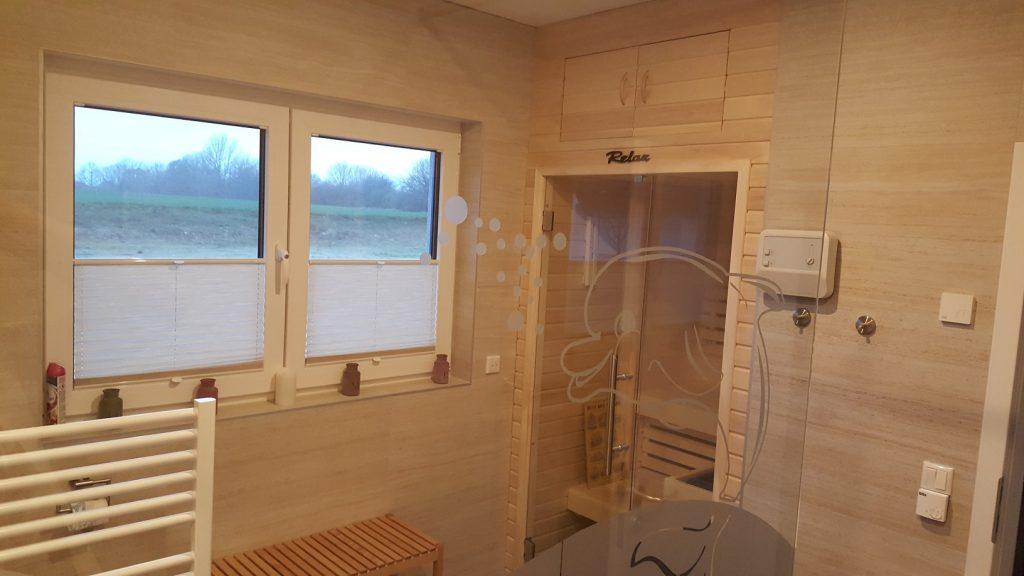 Bad mit Sauna kleine Wohnung